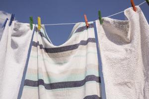 バスタオル-洗濯物