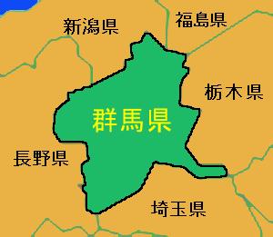 群馬県・地図