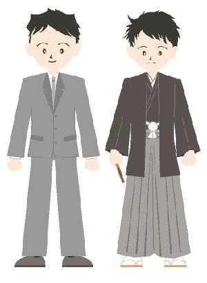 スーツと袴
