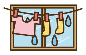 洗濯物-部屋干し