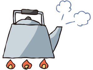 やかん-ケトル-沸騰-熱湯-シュ